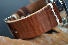 MA WATCH STRAP 26MM GENUINE CALF LEATHER HANDMADE SPAIN PANERAI COL II-CHOCOLATE