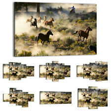 Canvas Print Framed Picture 47 Shapes Wall Art animals horses landscape 2201 UA