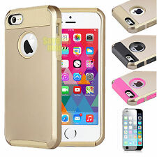 Gold Armor Impact Bumper Defender Hard Case Cover For iPhone 6 / 6s / 6s Plus