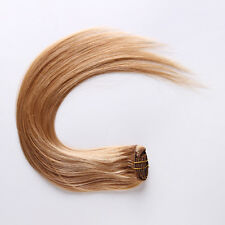 """#27 Strawberry Blonde 16""""18""""20""""22"""" 70g-80g 100% Clip in Human Hair Extension"""