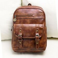 2014 Hot College Wind retro fashion pu leather shoulder lady student backpack