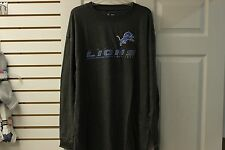 Detroit Lions Charcoal Heather 2 Hit NFL Team Apparel T Shirt Big and Tall