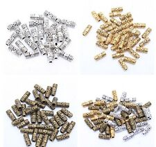 200Pcs Tibetan silver Column Tube Spacer Beads Finding Fit Jewelry Making8*3mm