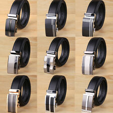 Genuine Leather Men's Automatic Casual Luxury Business Waistband Belt Buckle