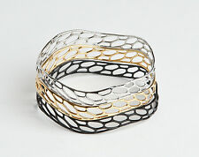 Holiday Festive Favourites - 3D Bracelets - Set of 3 in Silver, Gold and Black