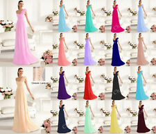 New One Shoulder flowers Chiffon Party Formal Bridesmaid Dress Stock Size 6 -16
