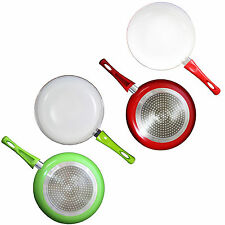Amazing New Non Stick Frying Pan White Ceramic Coating Choice of Colour BrandNew