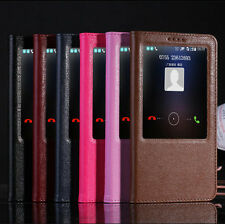 Smart View Genuine Real Leather Flip Stand Case Cover For Huawei Ascend Mate7