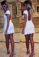 Womens Summer Sexy Bandage Bodycon Evening Party Cocktail Short Mini Hot Dress