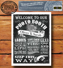 Personalised Chalkboard Style Sign ~ Wedding Photo Booth ~BUY ANY 2 GET 1 FREE!