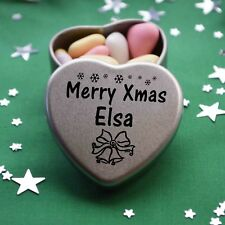 Merry Xmas Elsa Mini Heart Tin Gift Present Happy Christmas Stocking Filler