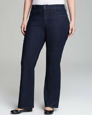 NEW NYDJ Not Your Daughters Jeans pants Barbara bootcut dark enzyme embellish