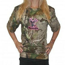 Bucked Up Short Sleeve Camo T-Shirt with Pink Logo Style 305587