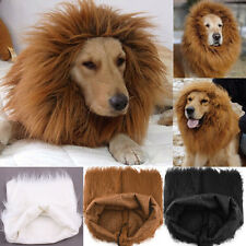 NEW Winter Festival Party Pet Cat Dog Costume Hat - Lion Mane Wig for Large Dogs