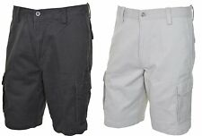 Dockers Mens Washed Cargo Shorts Flat Front 32 34 36 38 40 42 44 Beige Dark Gray