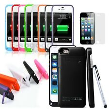 2200 mAh Power Battery Backup Charger Kickstand Case Screen Pen for iPhone 5 5s