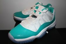 Air Jordan Retro 11 XI Low Aqua White Sneakers Boy's GS Size 5 5Y 5.5 5.5Y New