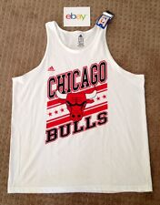 NWT ADIDAS CHICAGO BULLS HOME TANK TOP SZ 2XL XXL NBA OFFICIAL OUTFITTERS ROSE 1