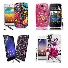 Silicone TPU Gel Case Cover Sleeve Skin For Various Phones Model + Film + Stylus
