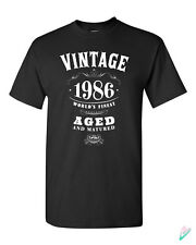 30th Birthday Gift Vintage 1985 T-shirt Tshirt Tee Shirt 30 Bday Present Whisky