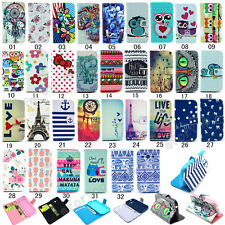 Fashion Flip Printed PU Leather Wallet Case Cover For Samsung G350 G3500 G3502