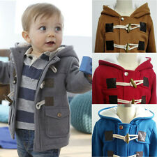 Xmas Toddler Baby Clothes Boy's Warm Winter Hoodies Coat Kids Outwear Jacket New
