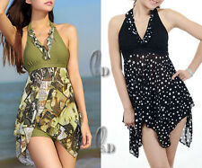 Sexy Swimwear Beachwear Padded Swimdress+Bottom Swimsuit SZ 6-20 AU SELLER sw026