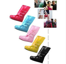 Candy color Rain boot shoe cover waterproof over shoes bicycle cycling rubber