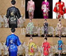 Brand New Hot Men's silk Japanese Chinese Kimono Robe Gown Bathrobe sleepwear