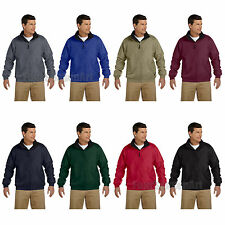 Harriton Mens Fleece-Lined Nylon Jacket S M L XL 2XL 3XL 4XL  M740