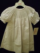 NEW READY TO SMOCK WHITE BISHOP DRESS SHORT SLEEVES ROSALINA HEIRLOOM BOUTIQUE