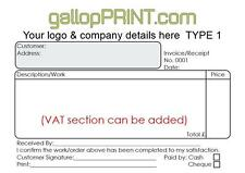 A6 PERSONALISED CUSTOM NCR CARBONLESS INVOICE QUOTE CASH RECEIPT NCR PAD BOOK