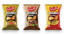 Estrella DOUBLE Potato Chips Cheese Burger Chilli Sour Cream Onion 111g 3.92oz