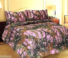 All Size Bed Sheets Pink Forest Camo MicroFiber Bed Sheet Set 4 Piece Set Tree