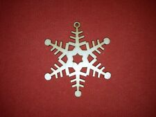 10 x SNOWFLAKE n2 plain UNPAINTED WOODEN CHRISTMAS TREE HANGING GIFT DECOR TAG