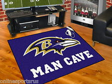 Baltimore Ravens Man Cave Area Rugs 3 Sizes