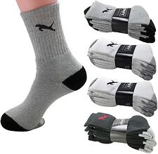 New 3-12 Pairs Mens Womens Crew Quarter Sport Athletic Socks Cotton Tiger Cat