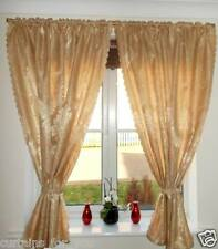 READY MADE BEIGE SHORT CURTAINS AMAZING WINDOW FOR YOU 122 CM, 137 CM, 145 CM