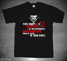 New V for Vendetta Guy Fawkes Mask Political Thriller  Movie Quote T-shirt