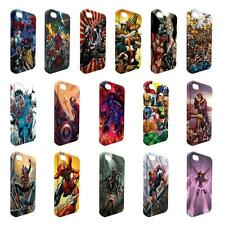 Full Wrap DC Marvel superhero comic book cover case for Apple iPhone - W7