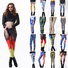 20143D Graphic Colourful Printed Tights Pant Yoga Gym  Sexy Women Leggings