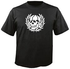 TOTENKOPF BLACK T SHIRT skull death head german biker skinhead ss perry doc tee