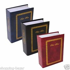 "200 POCKET PHOTO ALBUM 6X4"" SLIP IN PHOTO ALBUM HOLDS 6 X 4"" PHOTOS PLAIN ALBUM"
