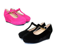 """Erika-85k New Wedding Church party Toddler/Youth Girl's 2"""" inch Low Heel Shoes"""