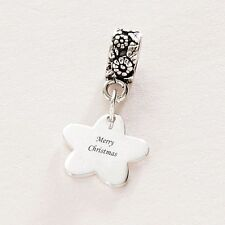 Engraved Christmas Gift, Flower Charm with Engraving, Personalised Jewellery