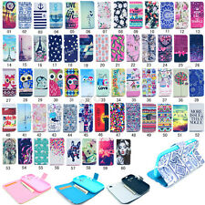 Fashion Flip Printed PU Leather Holder Case Cover For Motorola Moto G / Moto G2