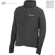 Berghaus Men's Parione Polartec Half Zip Stretch Panel Fleece - Dark Grey - New