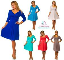 ♥ Sexy Dress 3/4 Sleeve  Maternity V Neck Sizes S|M|L|XL ♥ 4400 Sell-out