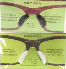 6 Pairs Of Silicon Stick On Nose Pads For Eyeglasses Sunglasses Glasses