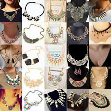 New Chain Pendant Crystal Choker Chunky Charm Statement Bib Necklace Party Gift